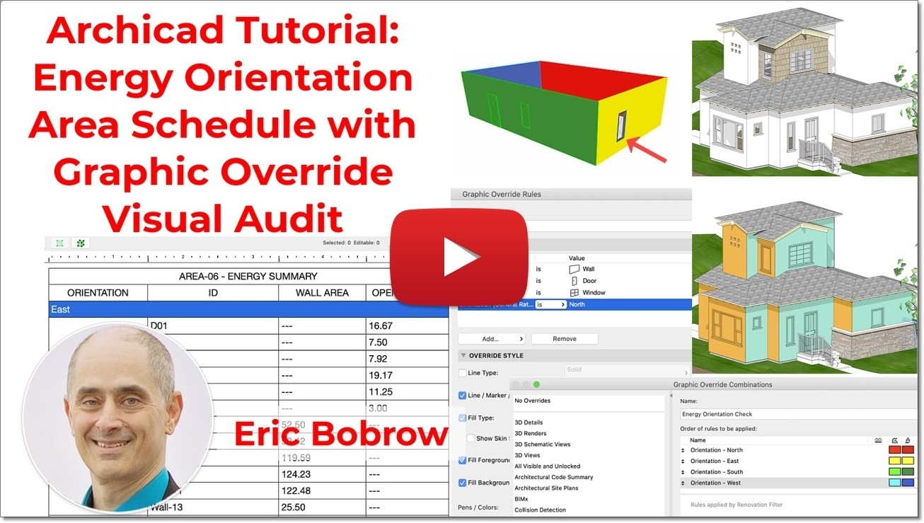 Archicad tutorial video - Energy Analysis Area Report